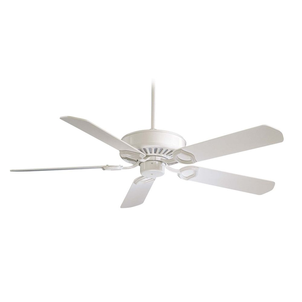 Ceiling Fan Without Light In White Finish F588 Sp Wh