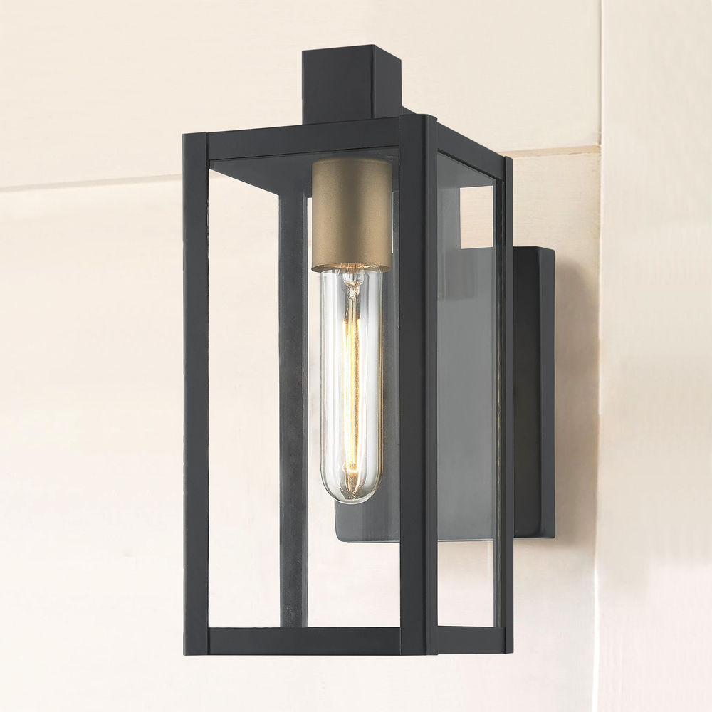 Modern Outdoor Wall Light Black 11 75