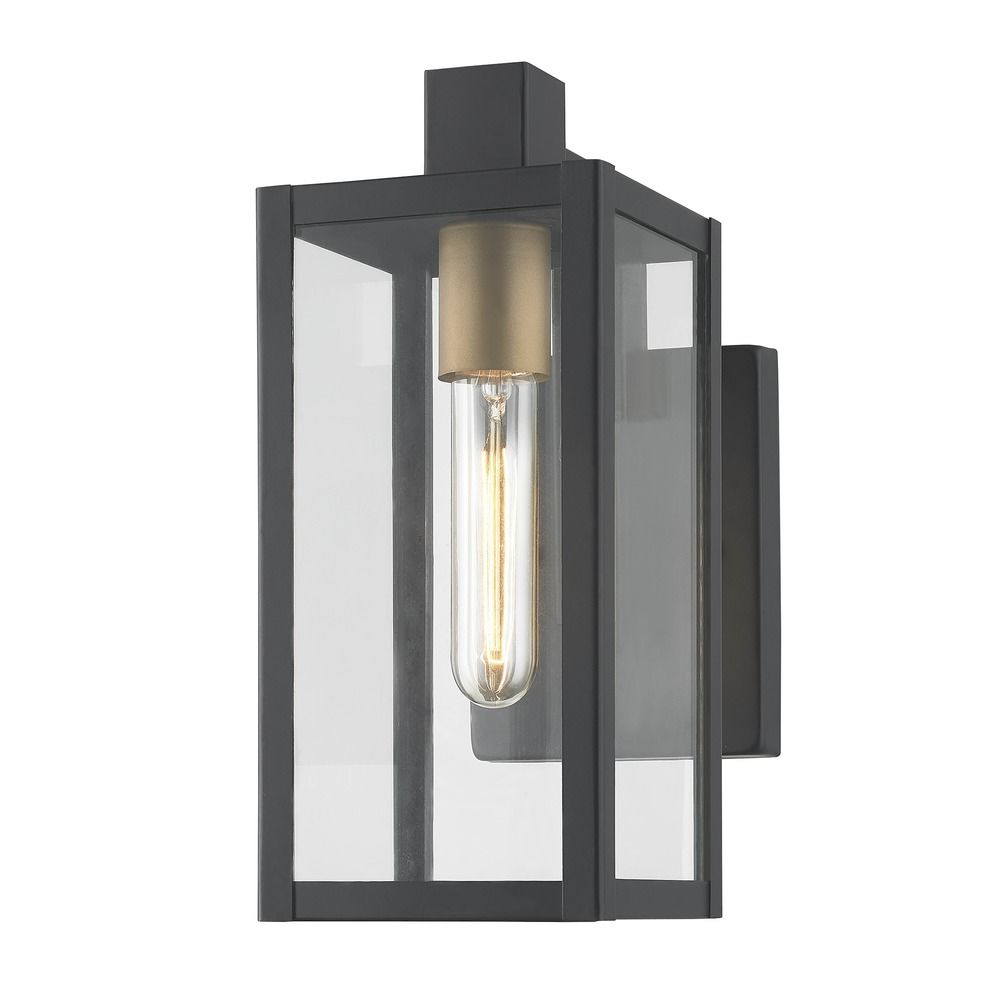 Modern Outdoor Wall Light Black 11 75 Inches Tall At Destination Lighting