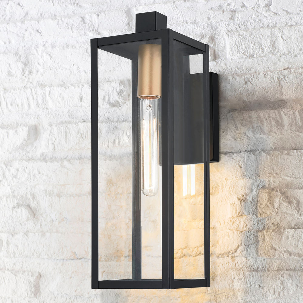 Modern Outdoor Wall Light Black 17 25 Inches Tall At Destination Lighting