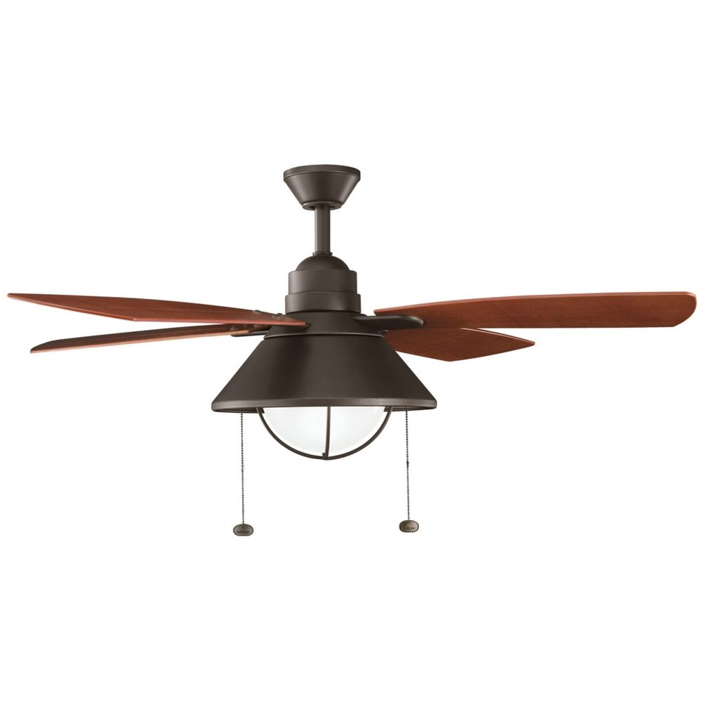 kichler compact fluorescent seaside ceiling fan with light kit. Black Bedroom Furniture Sets. Home Design Ideas