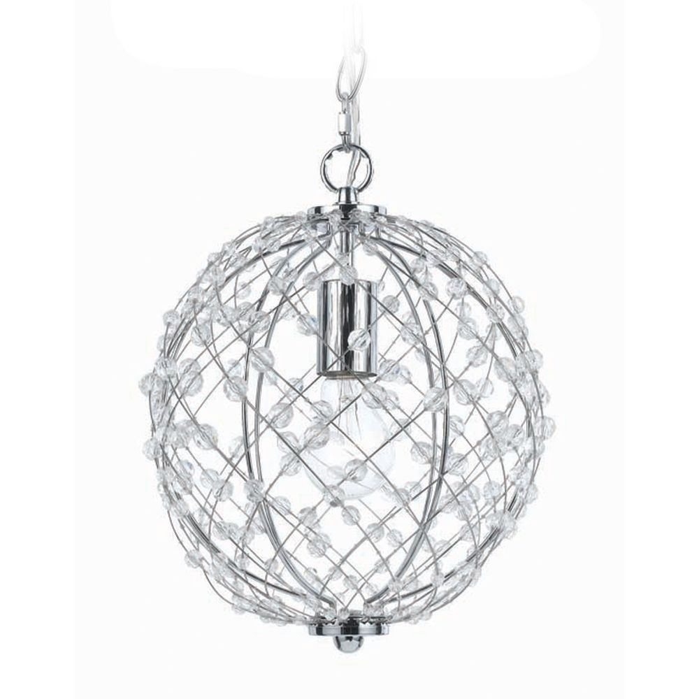 silver mini pendant with swag light kit plug in - Hanging Light Kit