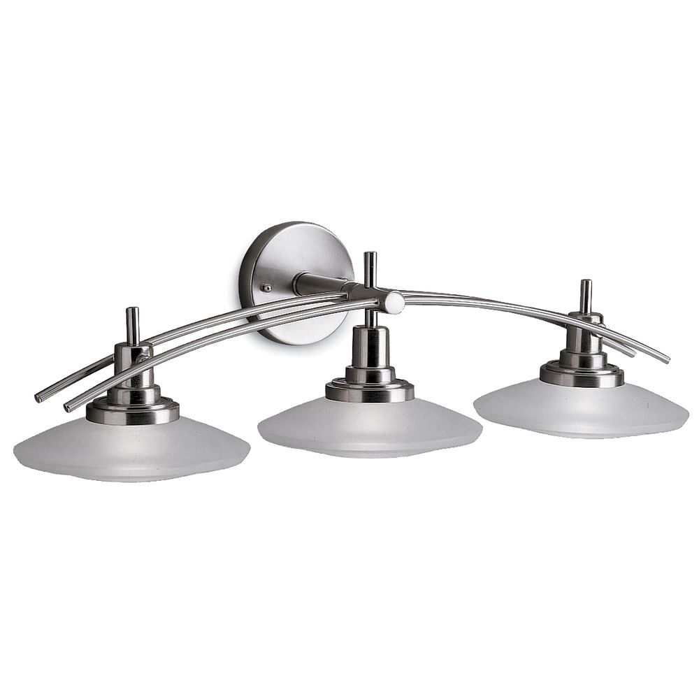 Kichler three light bathroom vanity light 6463ni for Bathroom vanity lights