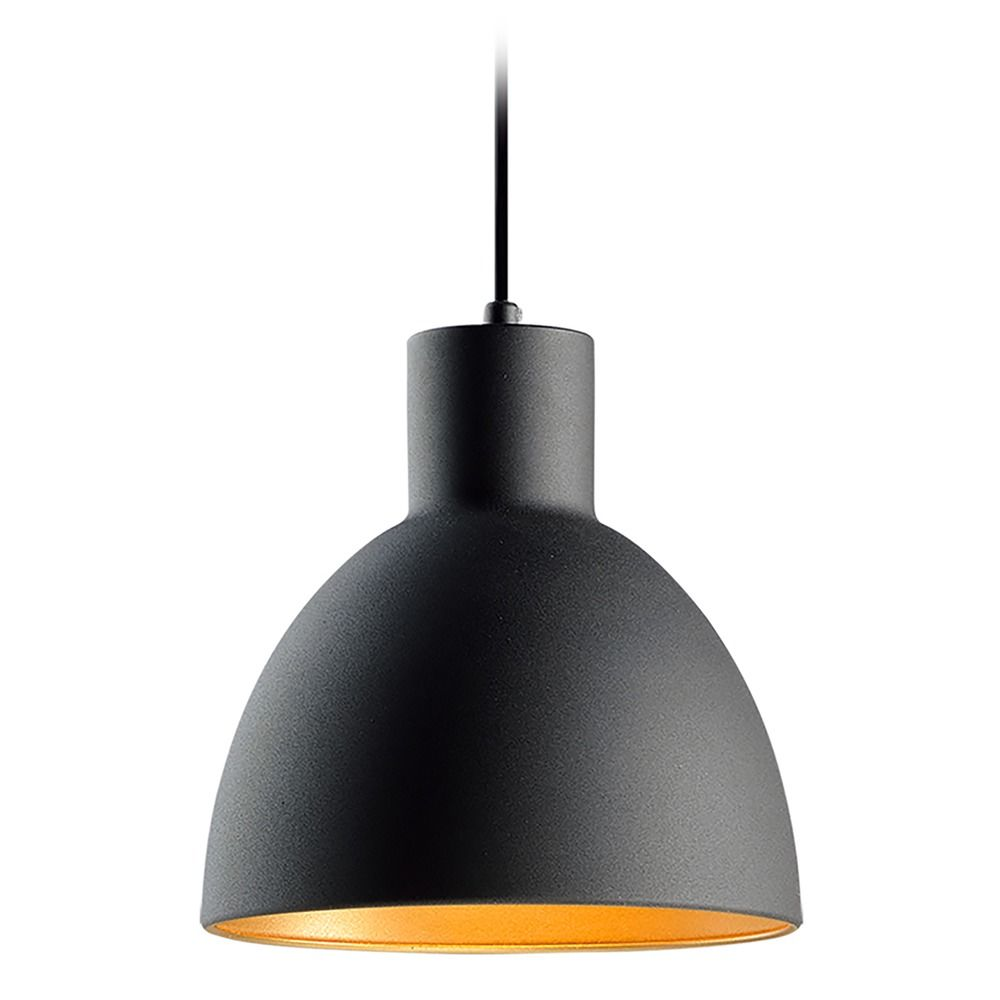 Maxim Lighting Cora Black / Gold Mini-Pendant Light with ...