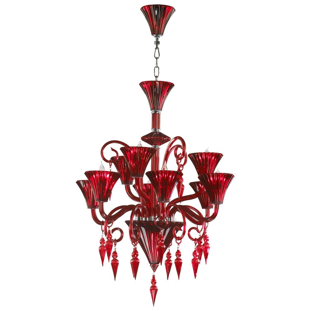 Cyan design andretti red chandelier 03045 destination lighting cyan design andretti red chandelier alt1 aloadofball Images
