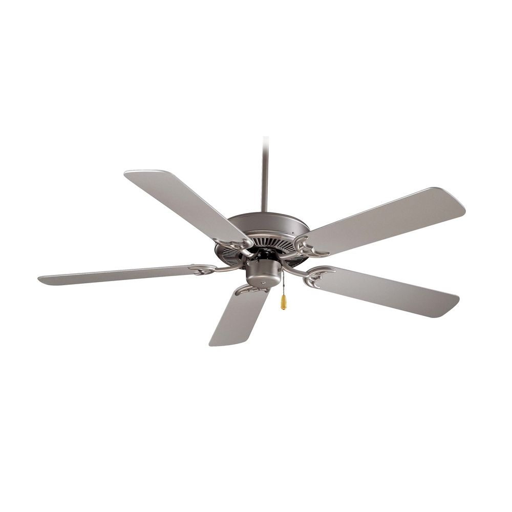 42-Inch Ceiling Fan Without Light In Brushed Steel Finish