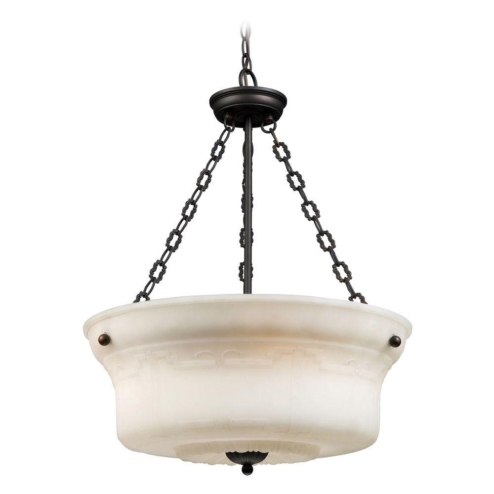 Elk Lighting Restoration Pendants Aged Bronze LED Pendant