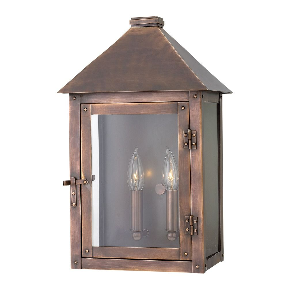 Outdoor Wall Lights Copper: Hinkley Lighting Thatcher Antique Copper Outdoor Wall
