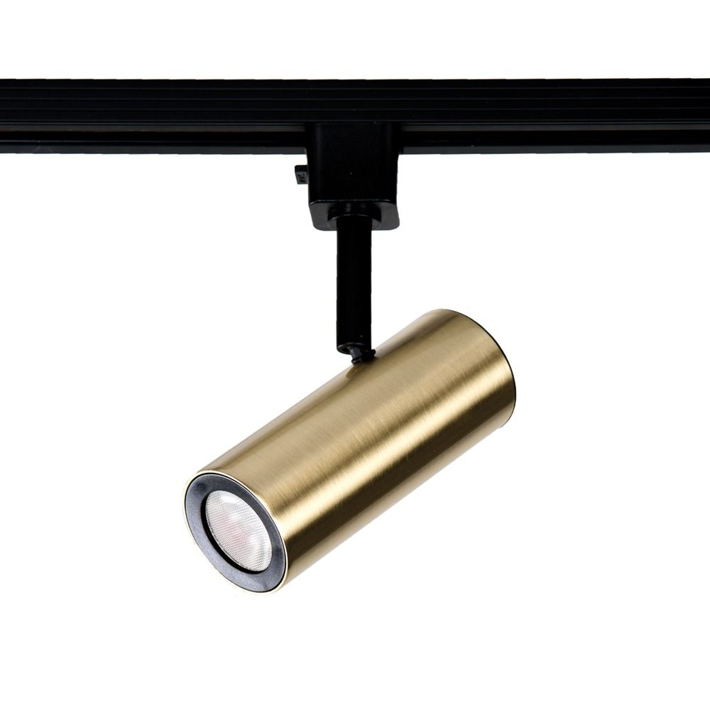 Wac H Track Lighting: WAC Lighting Brushed Brass LED Track Light H-Track 3000K