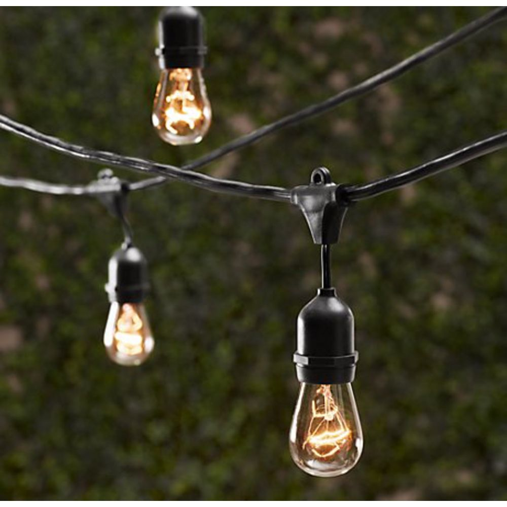 outdoor decorative patio string lights 48 ft long. Black Bedroom Furniture Sets. Home Design Ideas