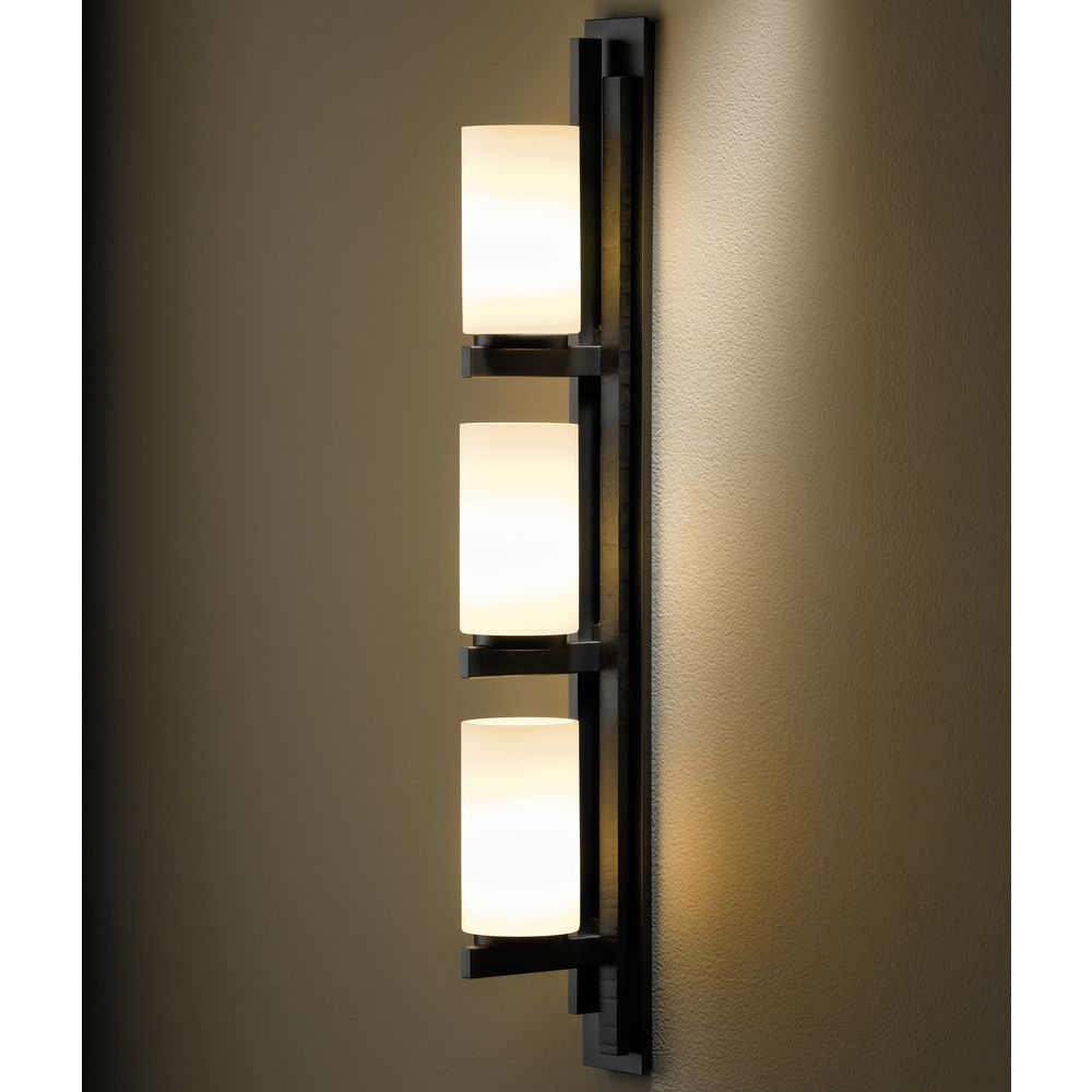 Ondrian dark smoke bathroom light vertical mounting only 206309 skt lft 07 gg0168 for Hubbardton forge bathroom lighting