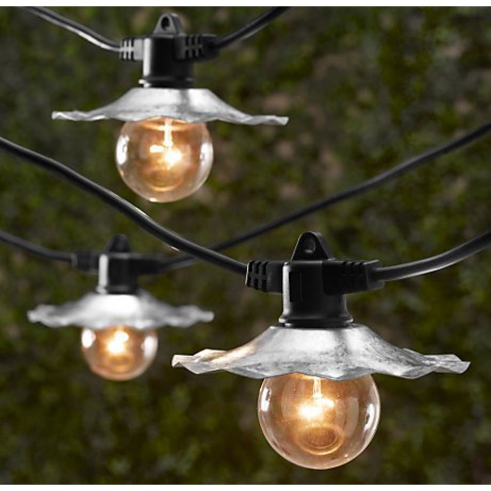 Outdoor string lights with galvanized shades bulbs not included outdoor string lights with galvanized shades bulbs not included sl3507 hover or click to zoom audiocablefo