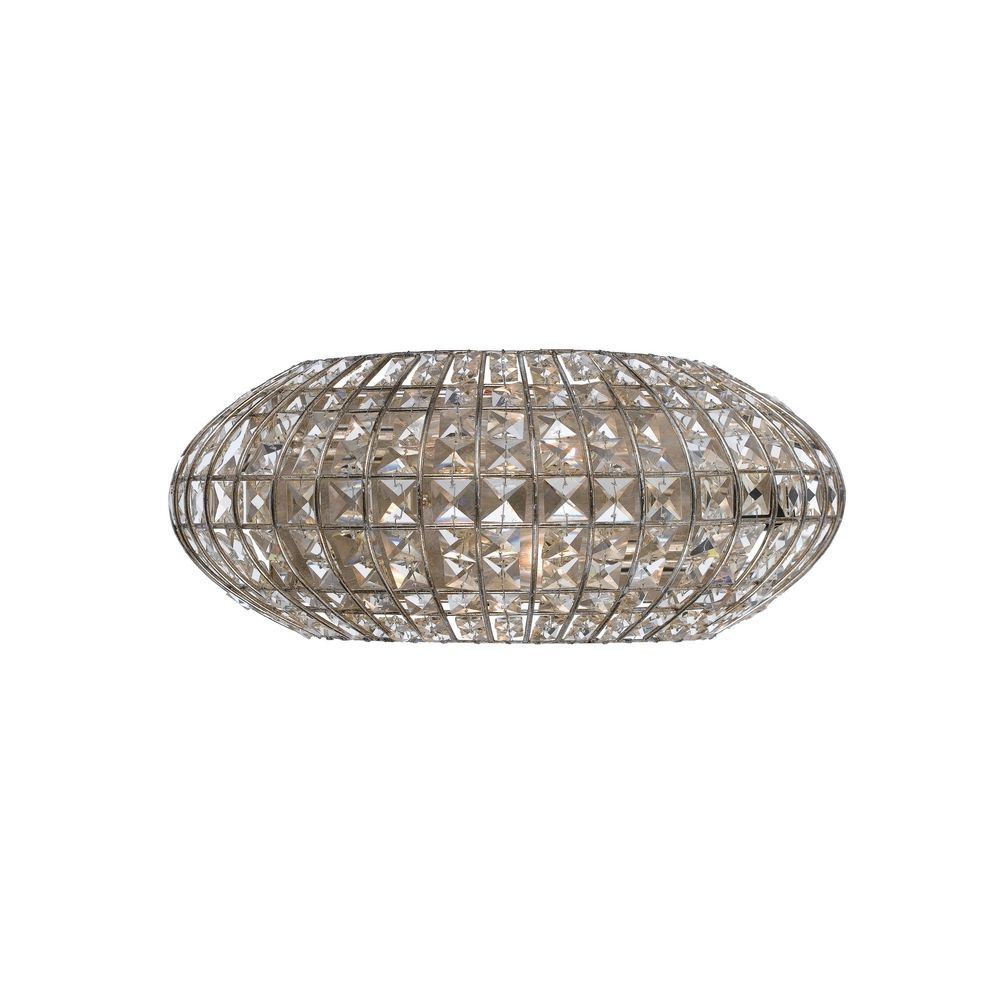 Crystal Sconce Wall Light in Antique Silver Finish 342-SA Destination Lighting