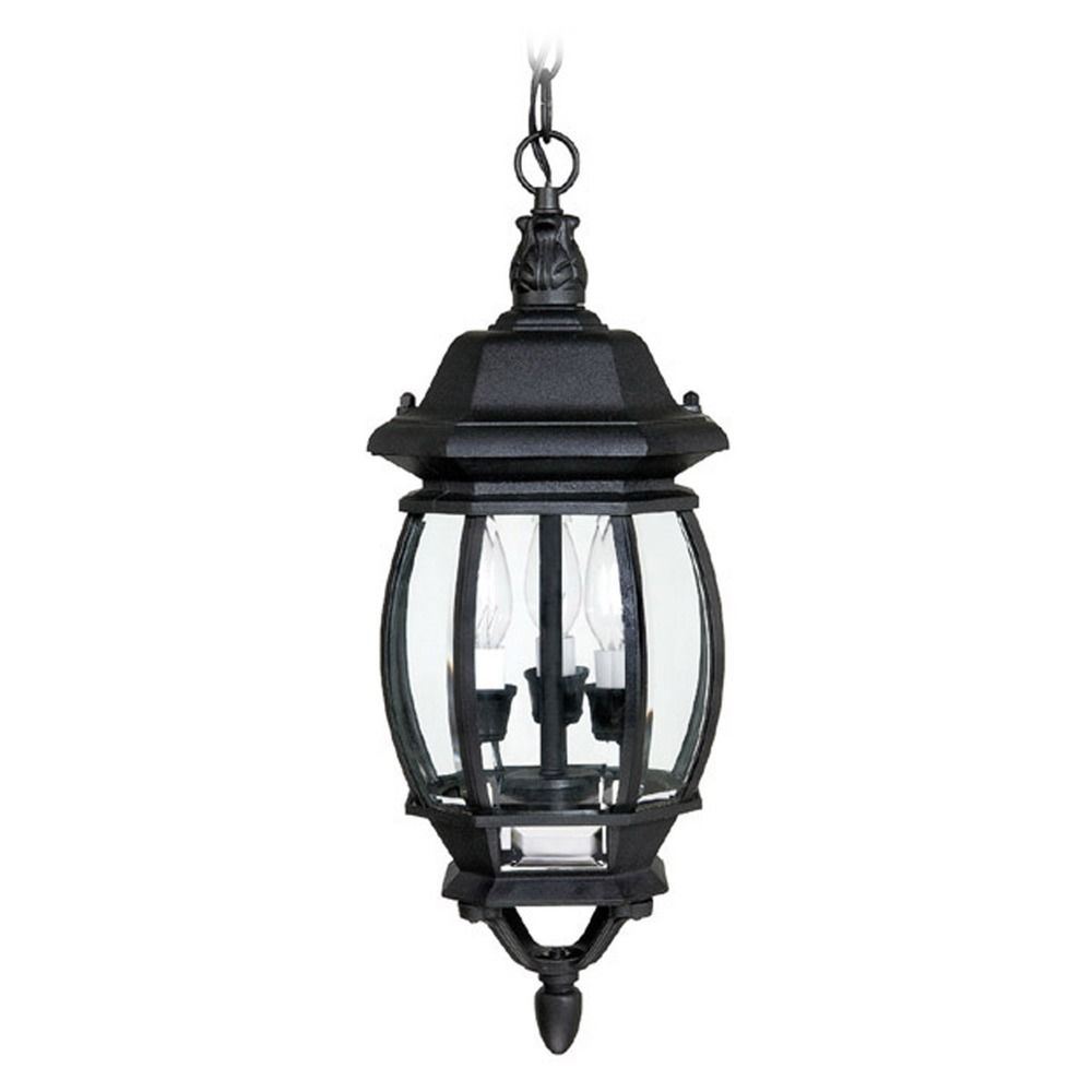 Capital Lighting French Country Black Outdoor Hanging