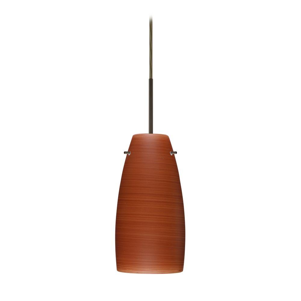 modern pendant light brown glass bronze by besa lighting