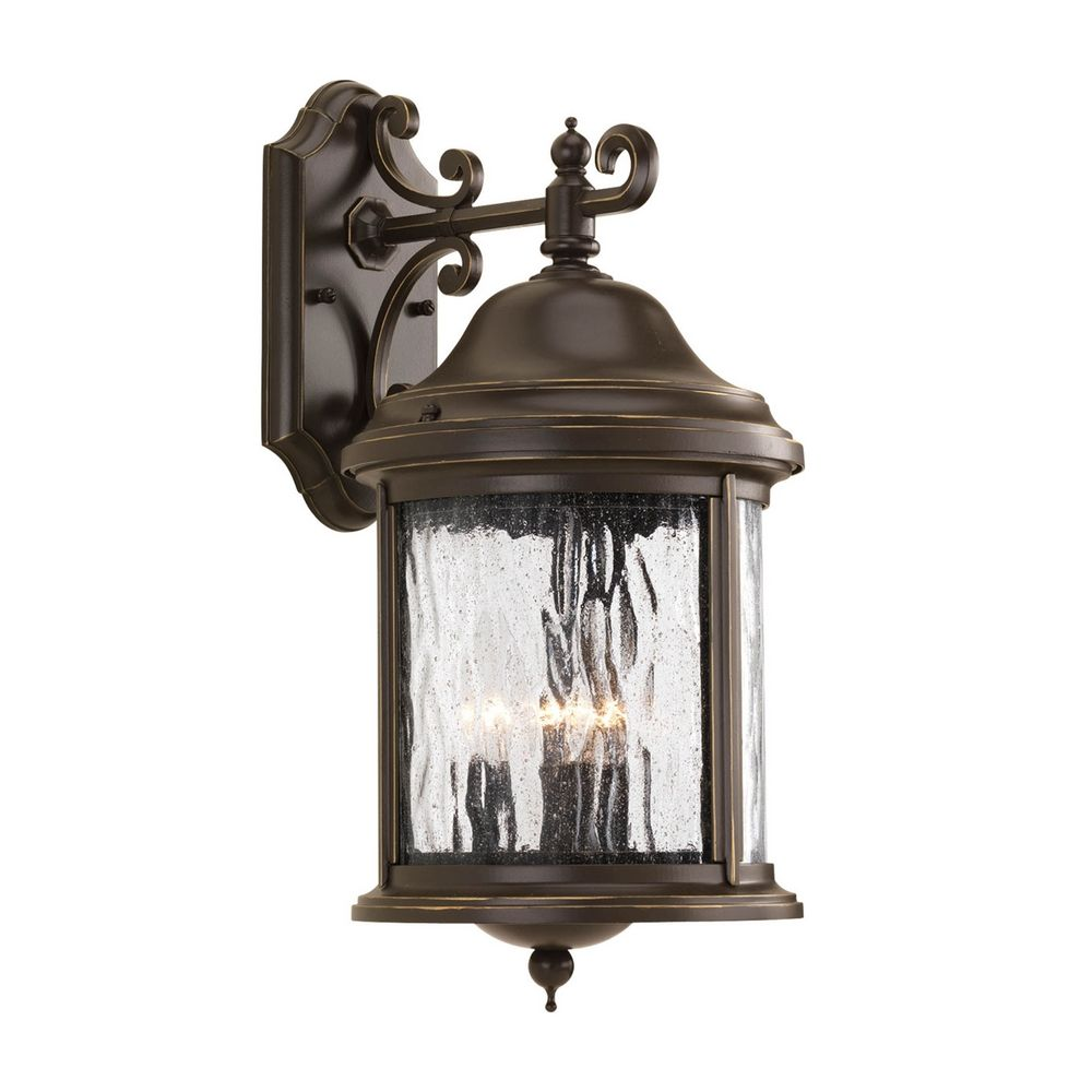 Outdoor Wall Light with Clear Glass in Antique Bronze