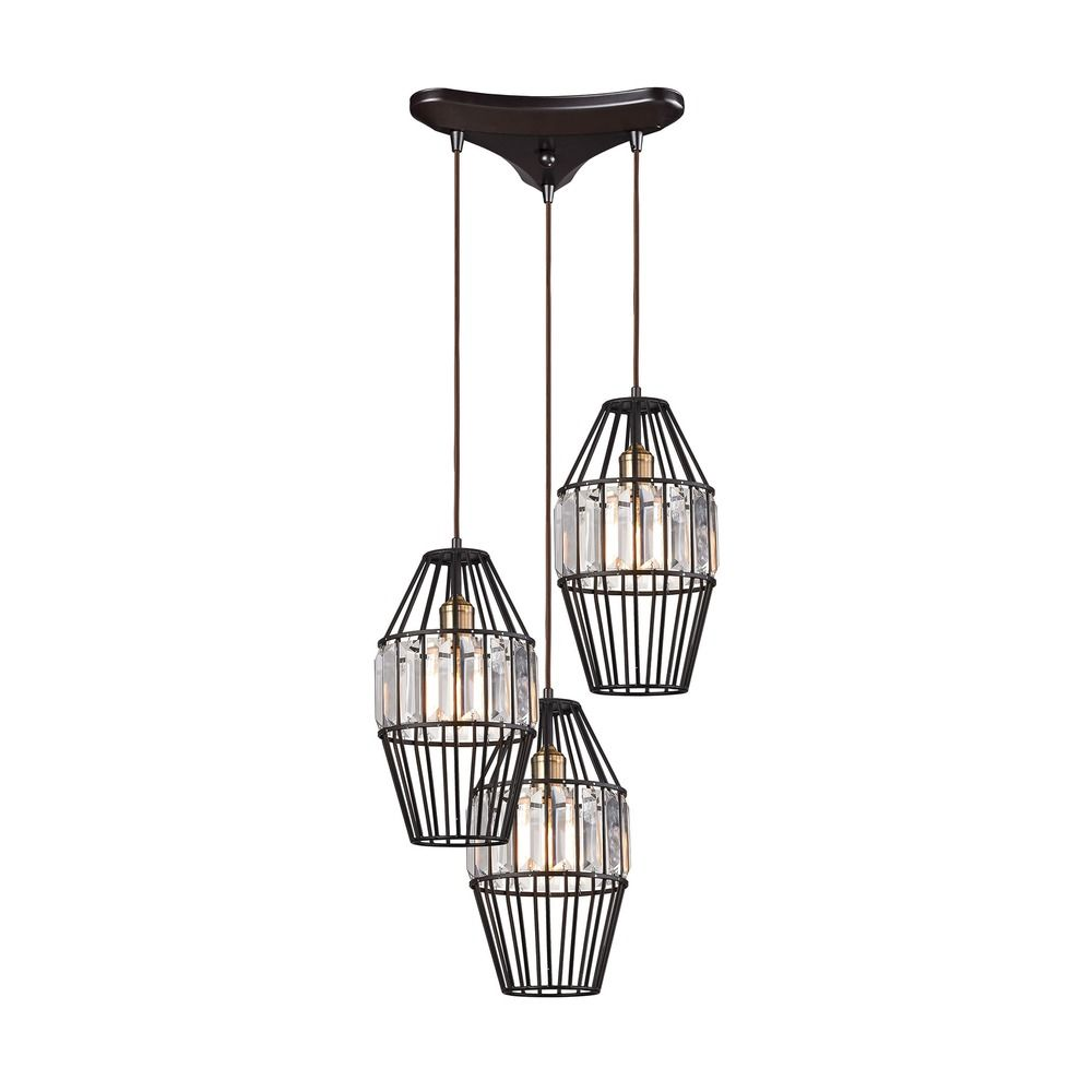 Elk Lighting Yardley: Elk Lighting Yardley Oil Rubbed Bronze Multi-Light Pendant