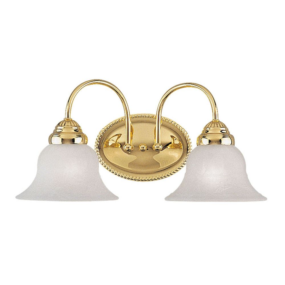Livex Lighting Edgemont Polished Brass Bathroom Light 1532 02 Destination Lighting
