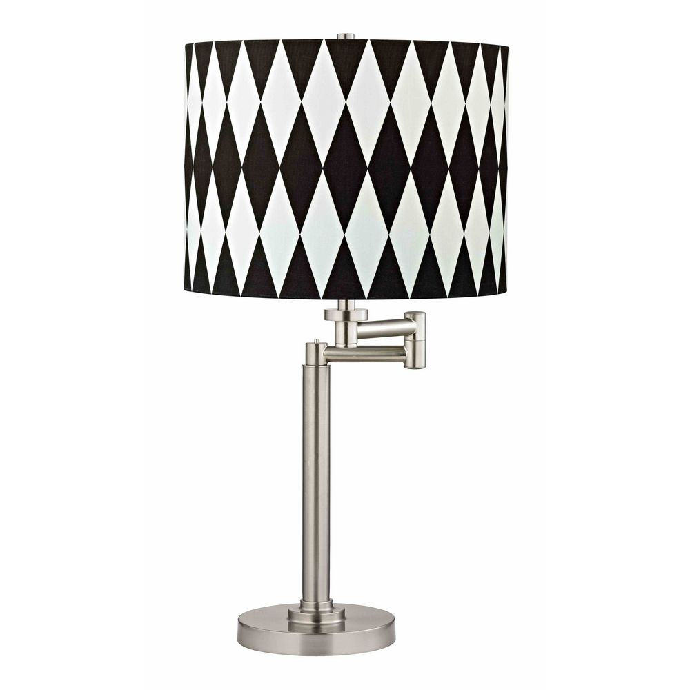 harlequin lighting pendant swing arm table lamp with harlequin shade off 190209 sh9491