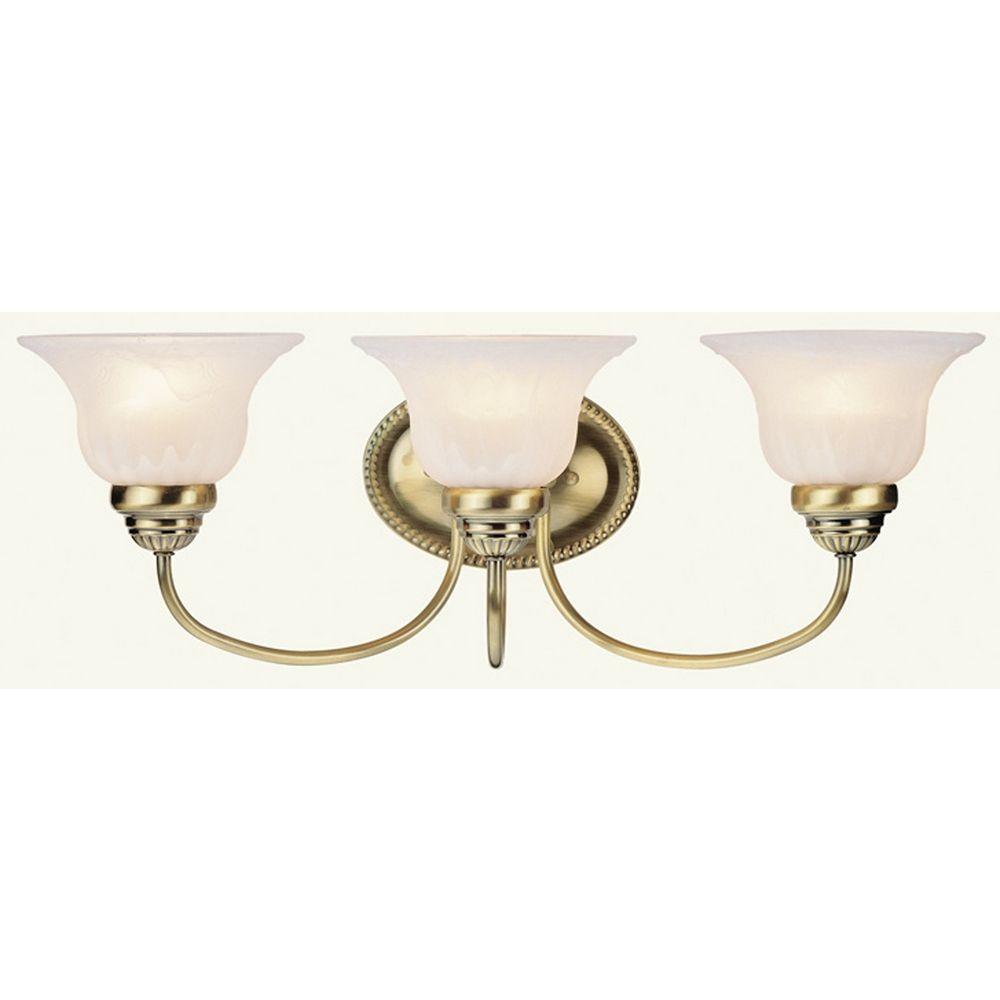 Livex Lighting Edgemont Antique Brass Bathroom Light 1533 01 Destination Lighting