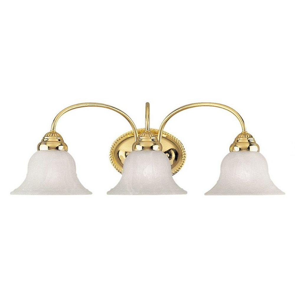 Livex Lighting Edgemont Polished Brass Bathroom Light 1533 02 Destination Lighting