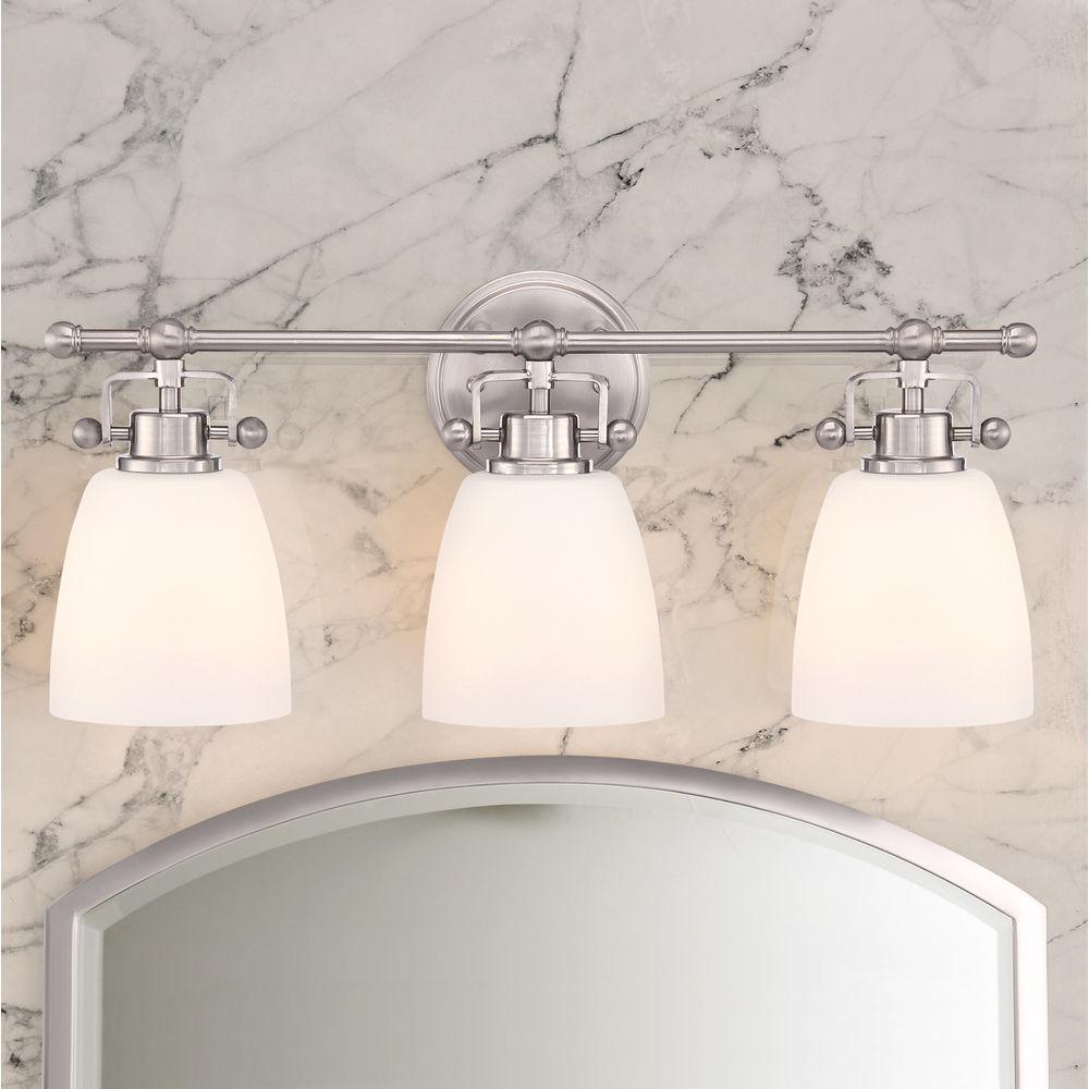 Quoizel Bower Brushed Nickel Bathroom