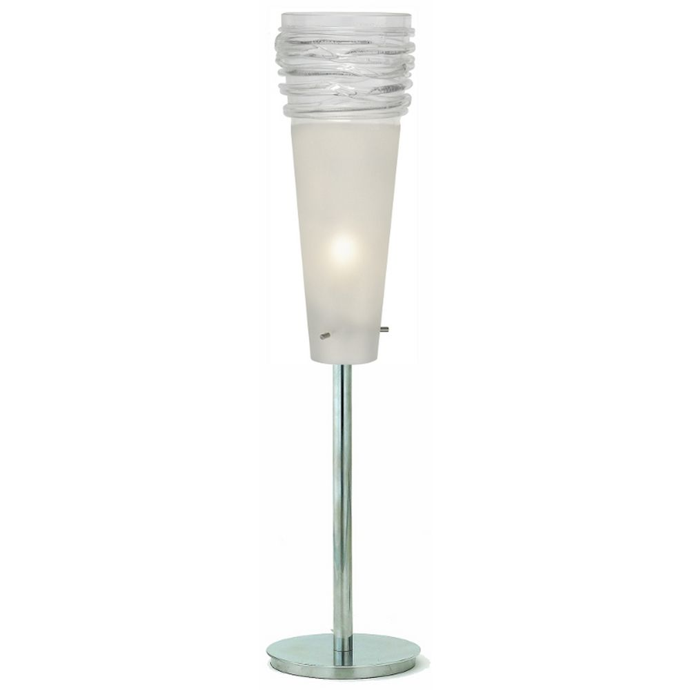 Oggetti lighting fili satin nickel table top torchiere for Oggetti lighting