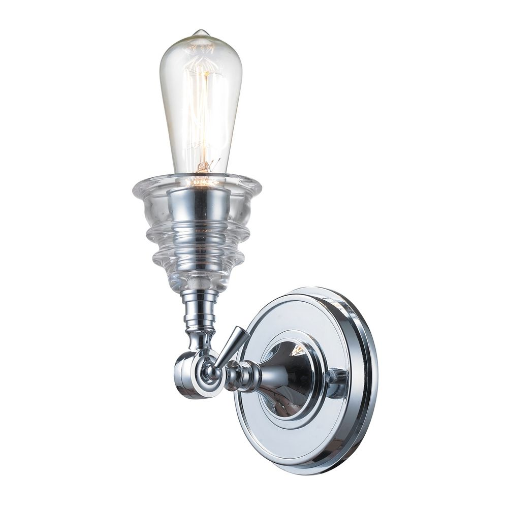 Sconce Wall Light In Polished Chrome Finish 66800 1