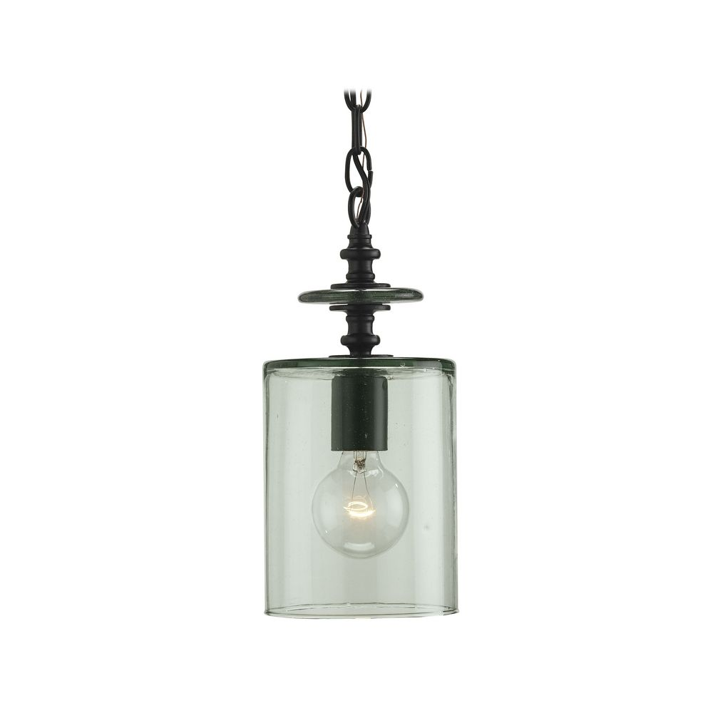 vintage style mini pendant light with recycled hand blown glass shade