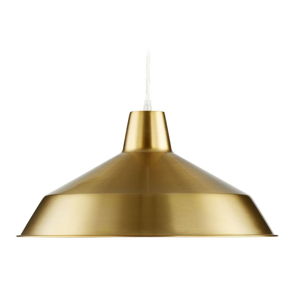 Barn Light Pendant Brass 16-inch Wide By Quorum Lighting