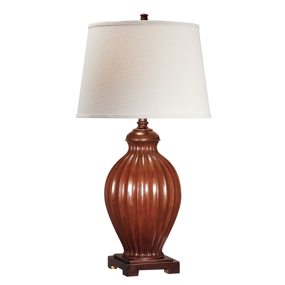 Lite source lighting colletta brushed brown table lamp for Brown table lamp shades