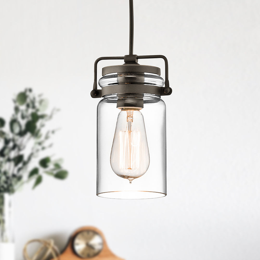Brinley Olde Bronze Mini Pendant Light