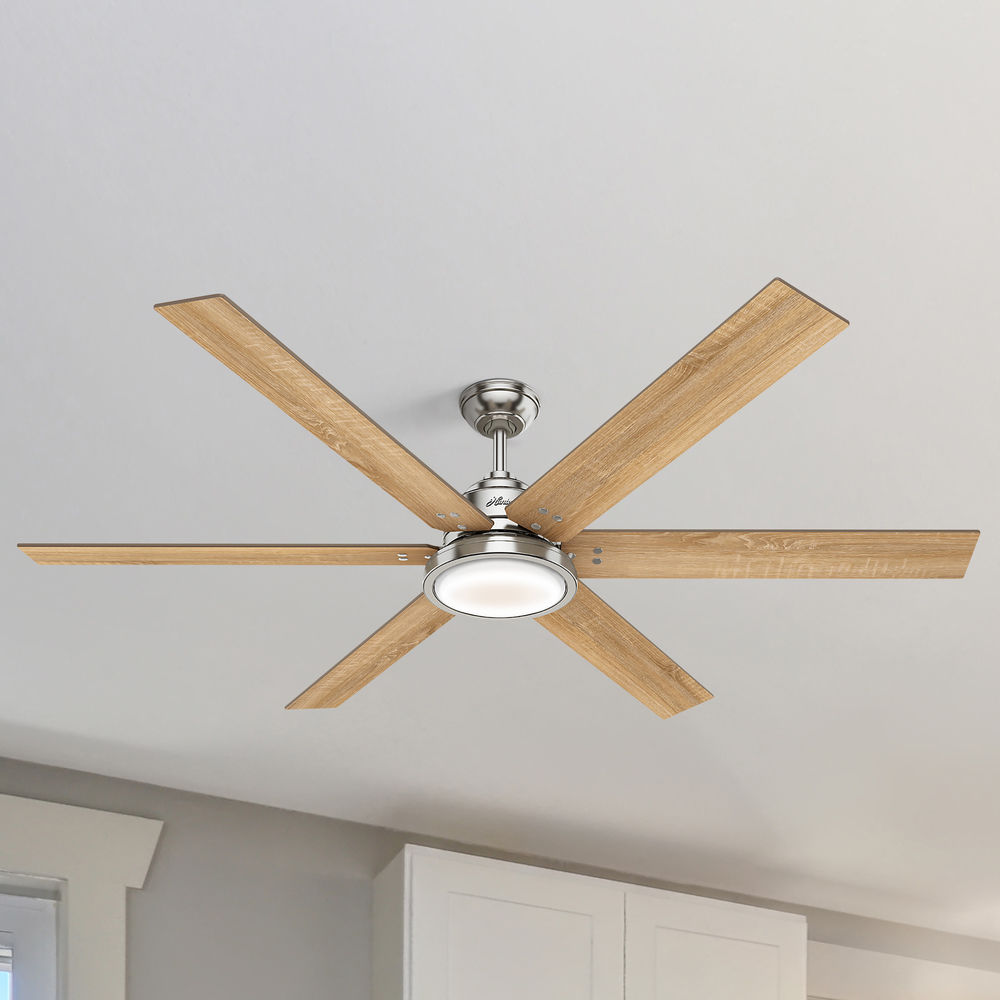 70 Inch Brushed Nickel Led Ceiling Fan