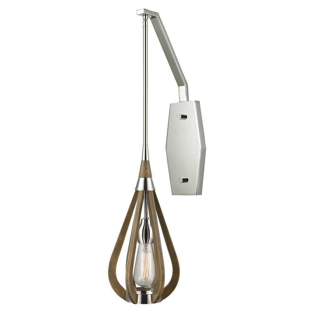 elk lighting janette polished nickel mini pendant light