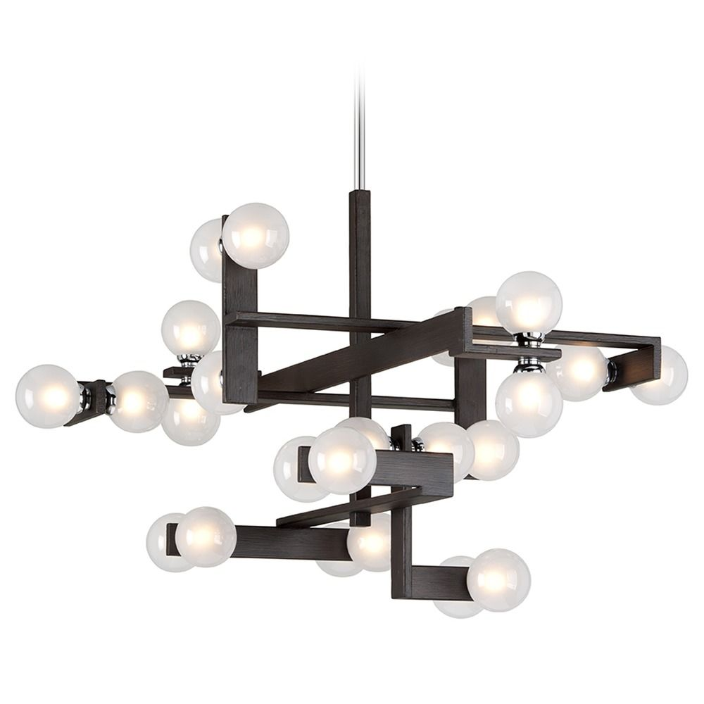 Mid Century Modern Lighting: Mid-Century Modern Pendant Light Bronze / Chrome Network
