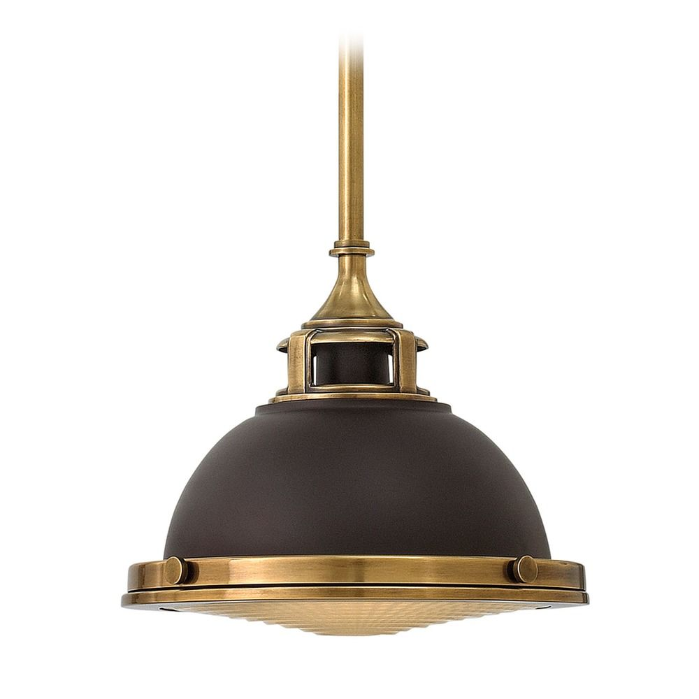 Hinkley Lighting Amelia Buckeye Bronze Mini-Pendant Light