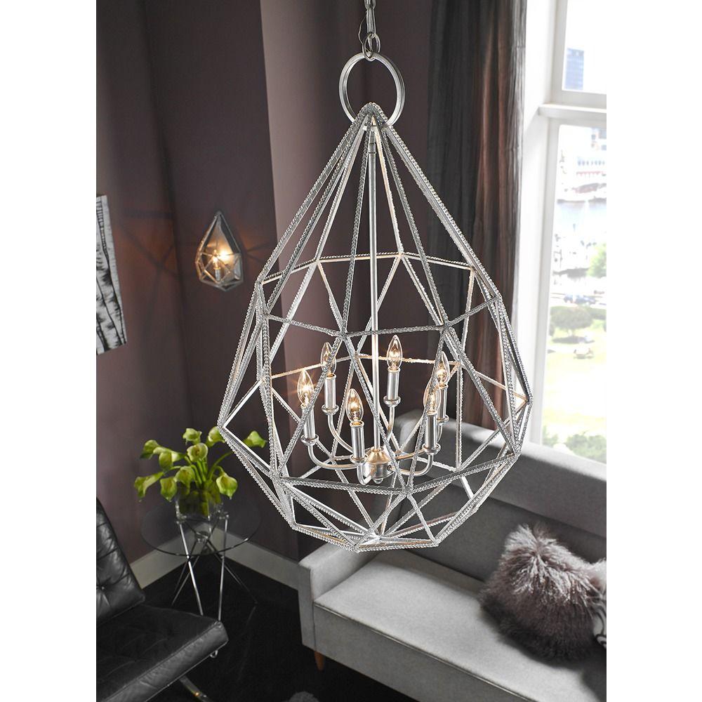 feiss lighting marquise silver pendant light rm2 - Feiss Lighting