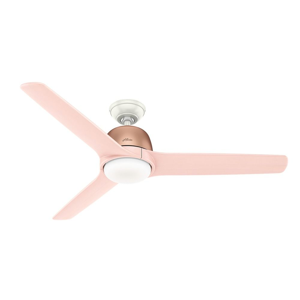 54 Inch Satin Copper Led Ceiling Fan