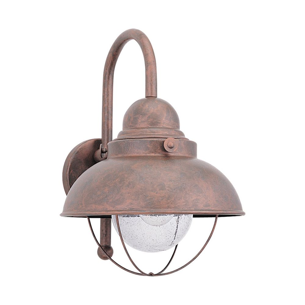 Outdoor Wall Light with Clear Glass in Weathered Copper Finish 8871-44 Destination Lighting