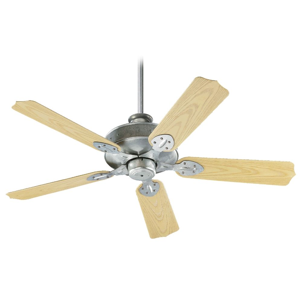 Quorum Lighting Hudson Galvanized Ceiling Fan Without