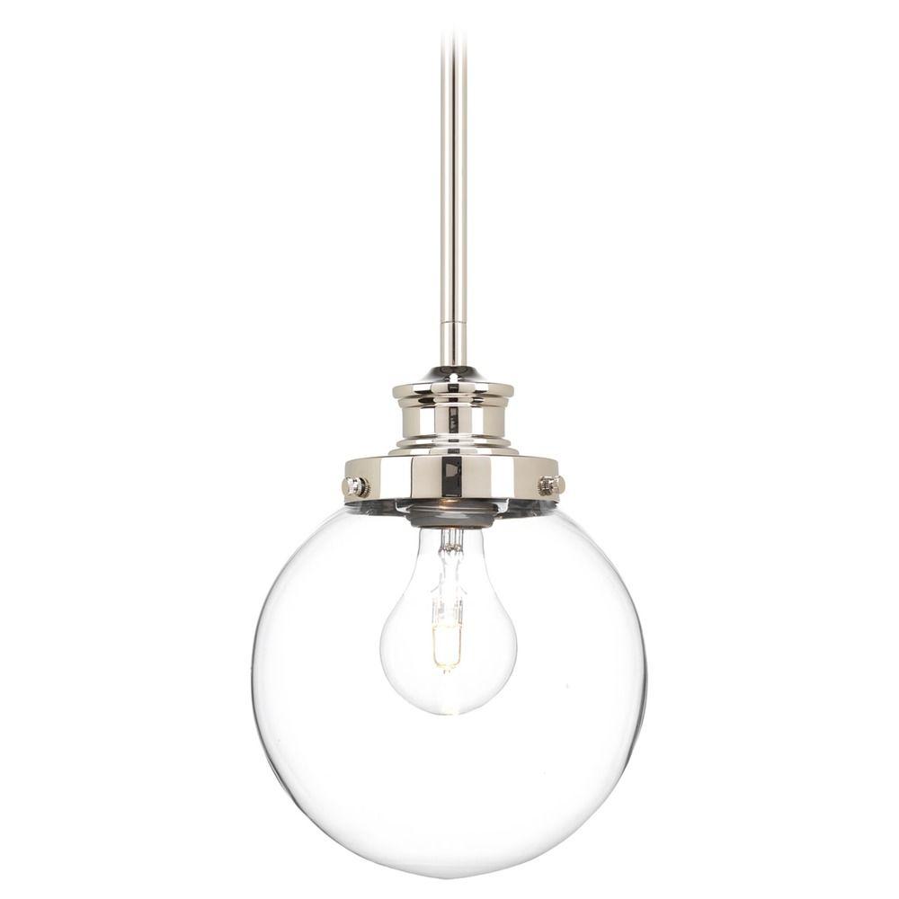 progress lighting penn polished nickel mini pendant light