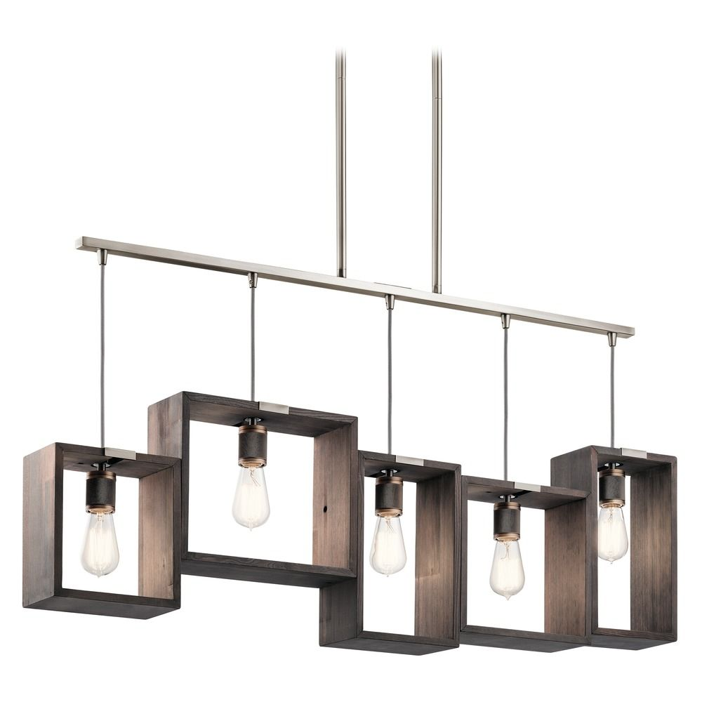 Island Light Pewter Industrial Frames by Kichler Lighting | 44216CLP ...
