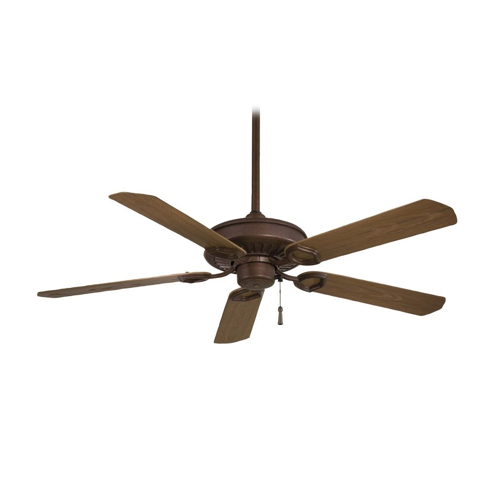 Ceiling Fan Without Light in Antique Bronze Finish