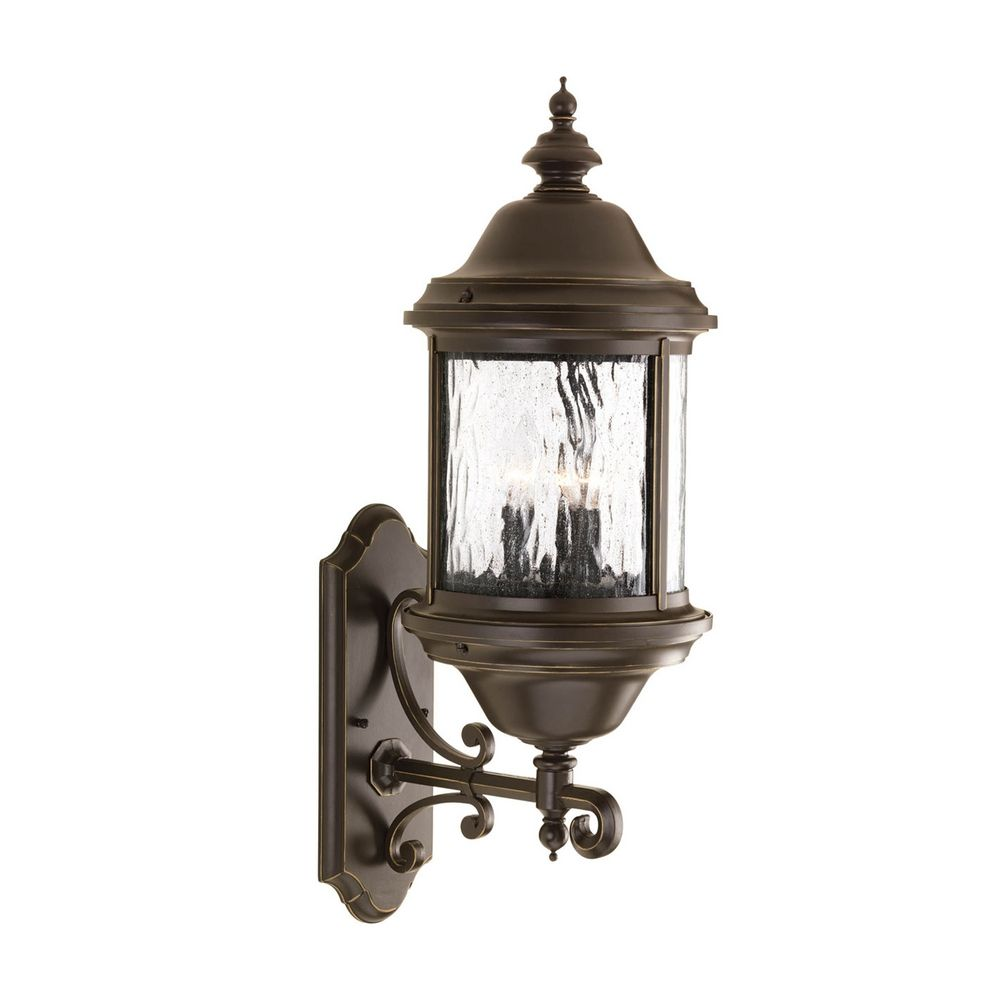 Bronze Finish Wall Lights : Outdoor Wall Light with Clear Glass in Antique Bronze Finish P5653-20 Destination Lighting