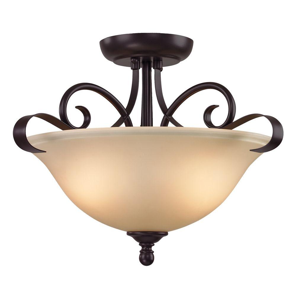 Cornerstone Lighting Brighton Oil Rubbed Bronze Pendant Light 1002CS 10 D