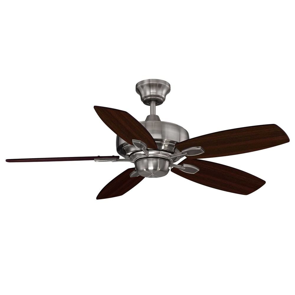 Savoy House Brushed Pewter Ceiling Fan Without Light