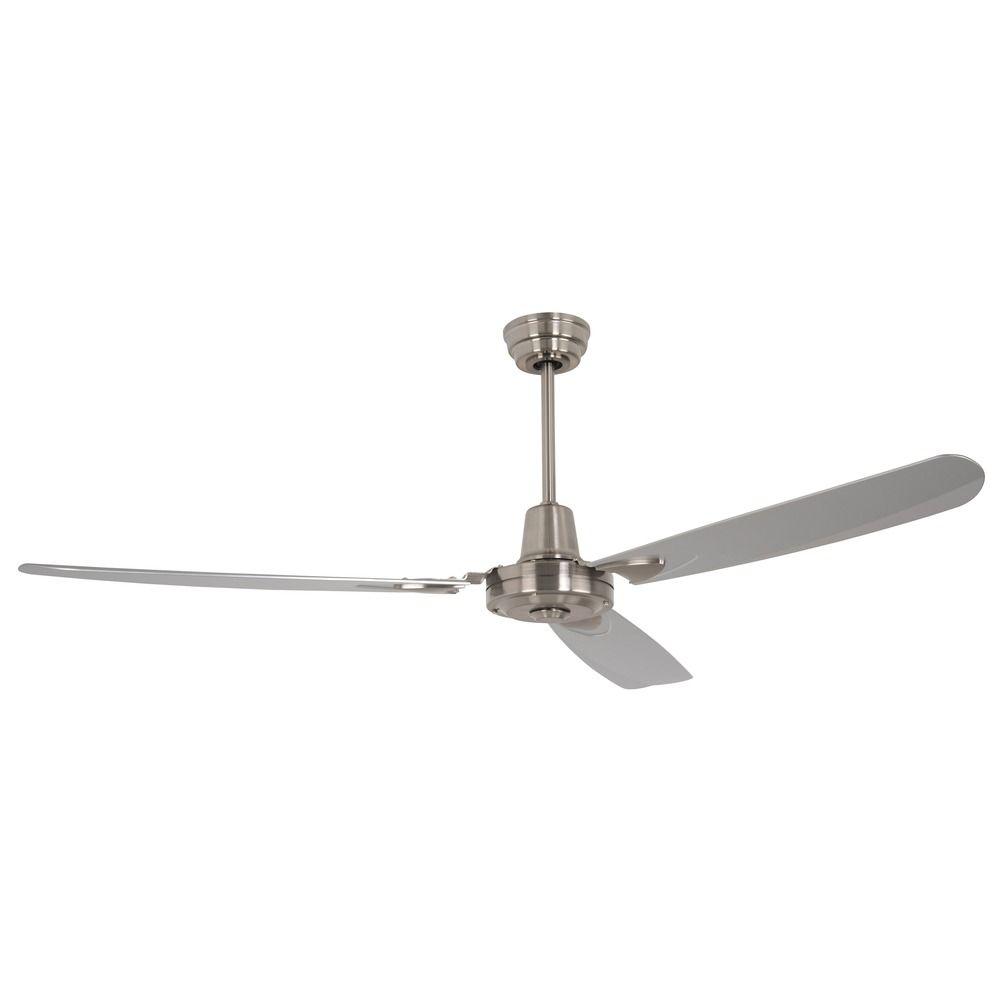 Stainless Steel Fan : Craftmade lighting velocity stainless steel ceiling fan