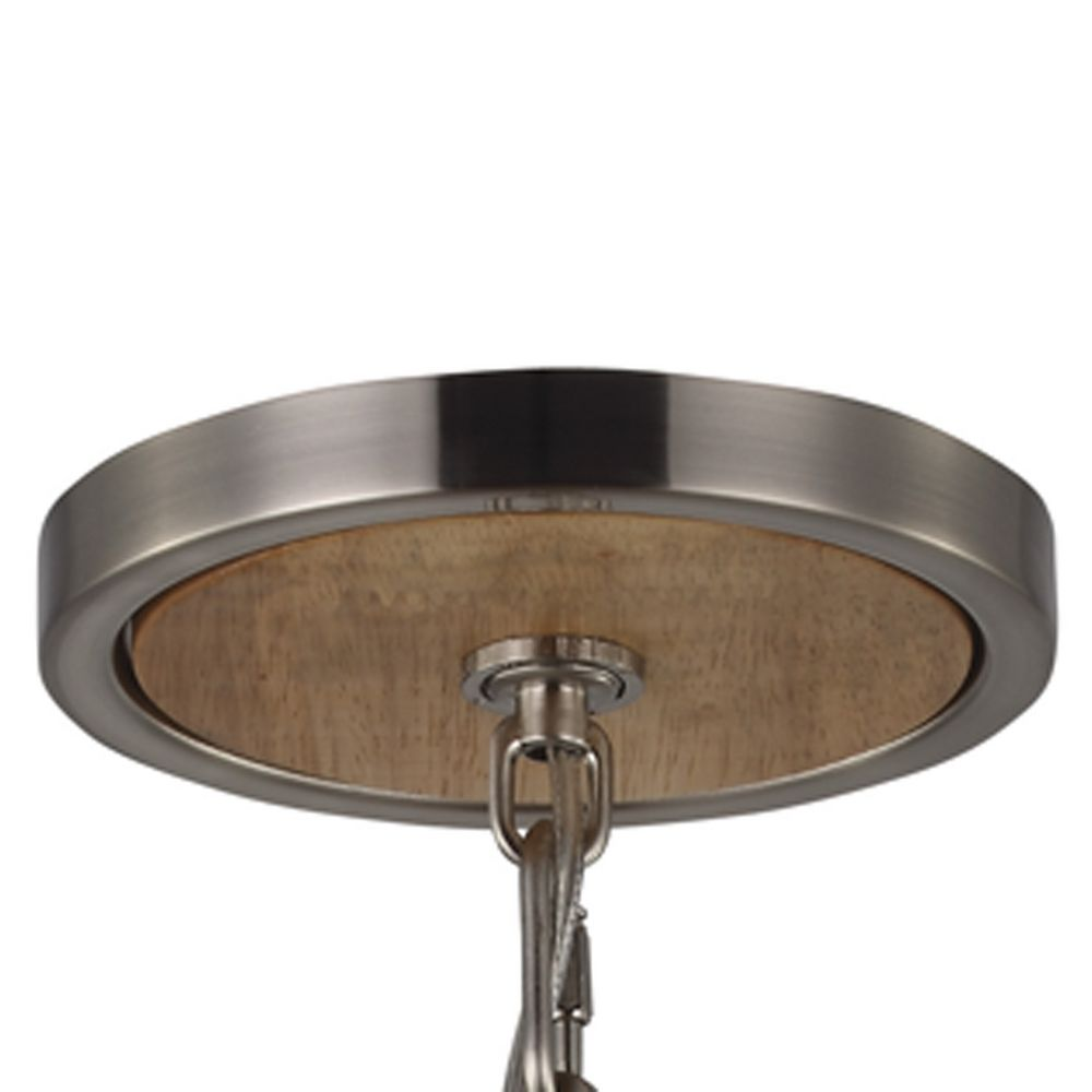 feiss lighting allier light wood brushed steel pendant light with cylindrical shade alt2