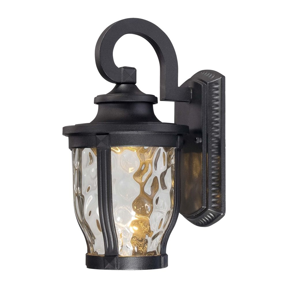 LED Outdoor Wall Light with Clear Glass in Black Finish 8761-66-L Destination Lighting
