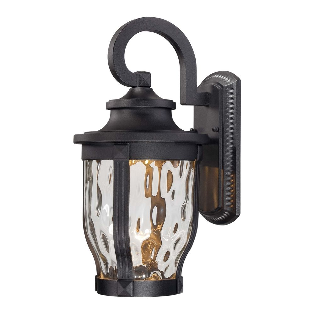 Exterior Lighting: LED Outdoor Wall Light With Clear Glass In Black Finish